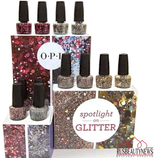 OPI spr14 glitter look