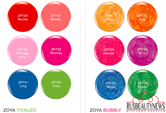 Zoya Tickled and Bubbly Nail Polish Collections for Summer 2014 color