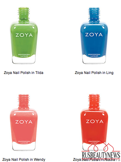 Zoya Tickled and Bubbly Nail Polish Collections for Summer 2014 color1