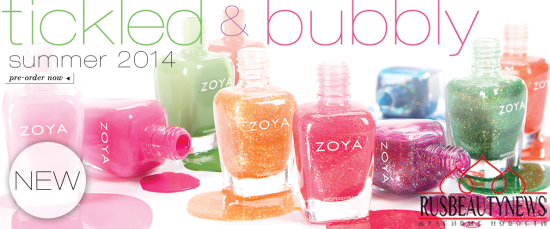 Zoya Tickled and Bubbly Nail Polish Collections for Summer 2014 look2