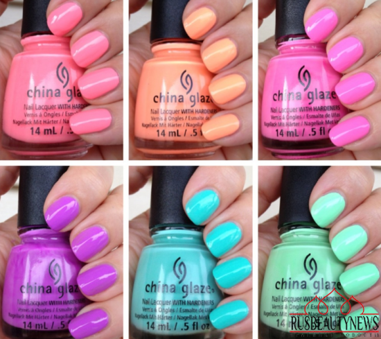 China Glaze Off Shore Summer 2014 Collection sw