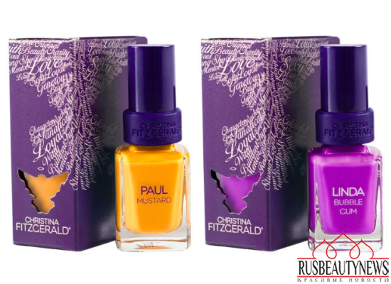 Christina Fitzgerald summer 2014 nail colors
