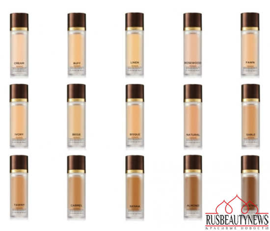 TOM FORD BEAUTY FALL 2014 COLOR COLLECTION foundation colors
