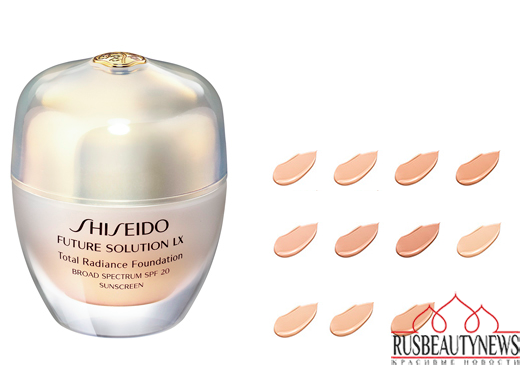 Shiseido Future Solution LX Total Radiance Foundation colors