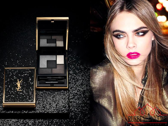 YSL Wildly Gold Holiday 2014 Collection  look