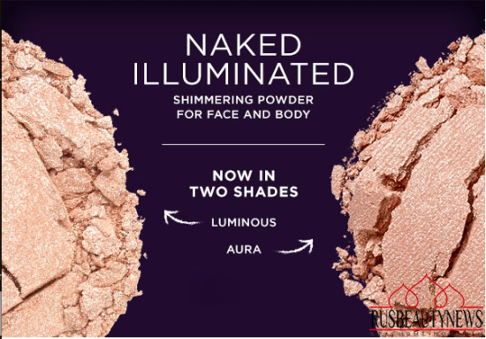 Urban Decay Naked Illuminated Shimmering Powder For Face & Body look5