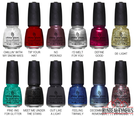 China Glaze Twinkle Holiday 2014 Collection look3