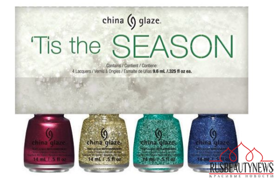 China Glaze Twinkle Holiday 2014 Collection set5