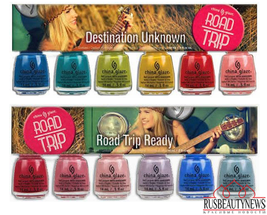 China Glaze Road Trip Spring 2015 Collection set2