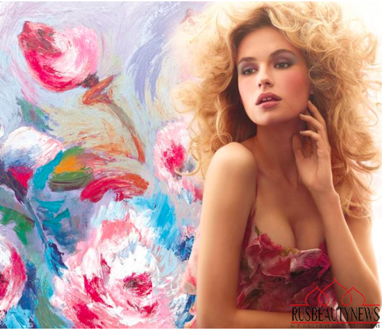 Laura Mercier Watercolour Clouds Spring 2015 Collection look