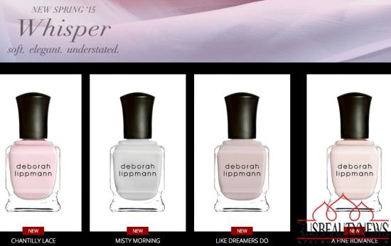Deborah Lippmann Whisper for Spring 2015 look2