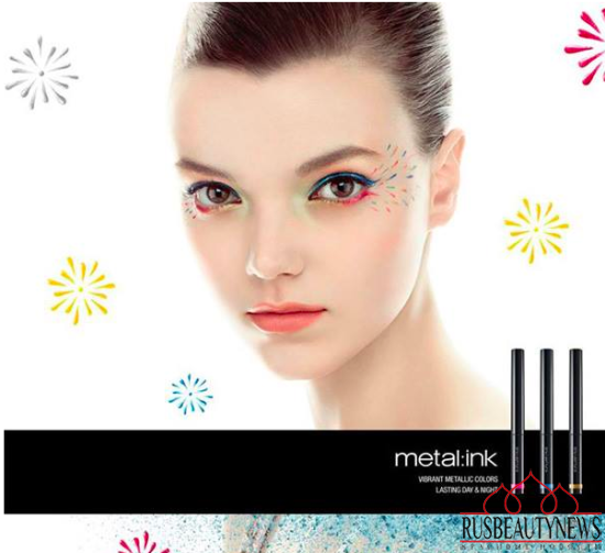 Shu Uemura Metallic Bouquet Spring Summer 2015 Collection look