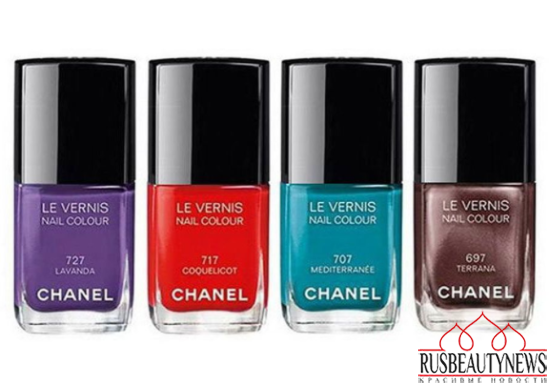 Chanel Méditerranée Summer 2015 Collection nail