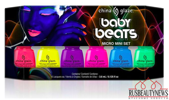 China Glaze Electric Nights Summer 2015 Collection set4