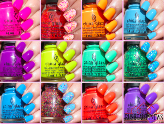 China Glaze Electric Nights Summer 2015 Collection sw