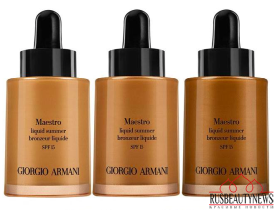 Giorgio Armani Maestro Sun Summer 2015 Collection liquid bronzer