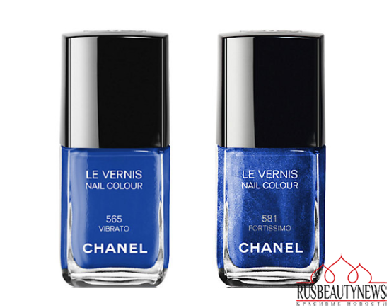 Chanel Blue Notes de Chanel 2015 Summer Collection nail