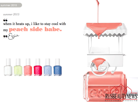 Essie Peach Side Babe 2015 Summer Collection