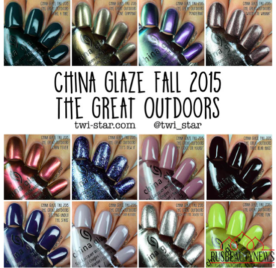 China Glaze The Great Outdoors Collection Fall 2015 sw