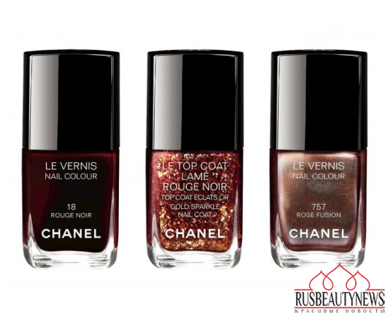 Chanel Rouge Noir Holiday 2015 Collection nail