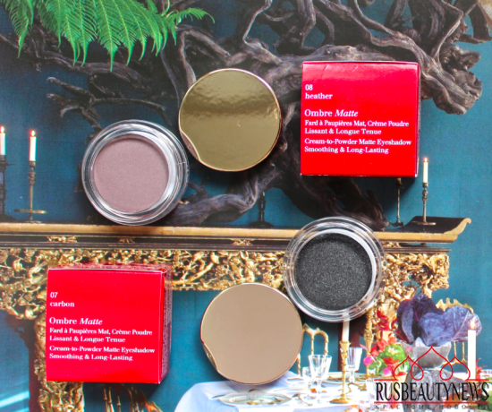 Clarins Ombre Matte Eyeshadow 07 Carbon and 08 Heather  Review