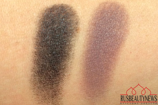 Clarins Ombre Matte Eyeshadow 07 Carbon and 08 Heather swatches
