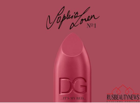 Dolce&Gabbana Sophia Loren No.1 Lipstick look2