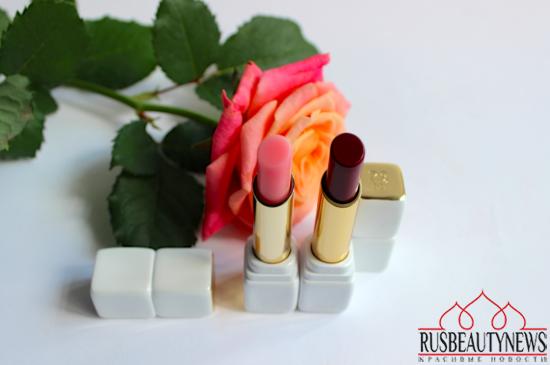 Guerlain Kiss Kiss RoseLip 371 Morning Rose and 374 Wonder Violette Review look
