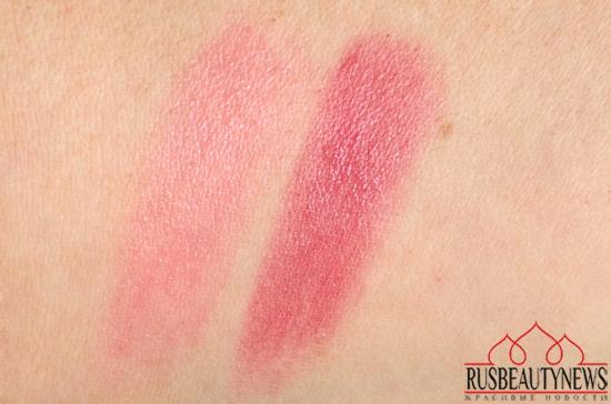 Guerlain Kiss Kiss RoseLip 371 Morning Rose and 374 Wonder Violette swatches