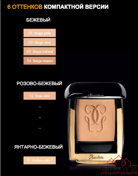 Guerlain Parure Gold Foundation for Fall 2015 compact color
