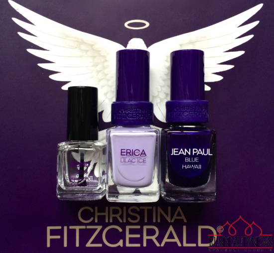Christina Fitzgerald Fall 2015 Collection- Erica Lilac Ice and Jean Paul Blue Hawaii Review