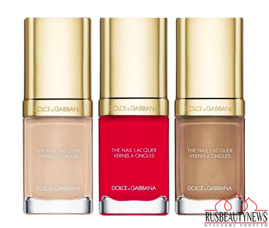 Dolce & Gabbana The Essence of Holidays 2015 Collection nail