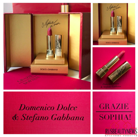 Dolce&Gabbana Sophia Loren No.1 Lipstick Review look3