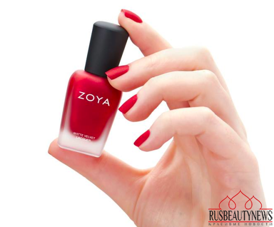 Zoya Matte Velvet Holiday 2015 Collection look3