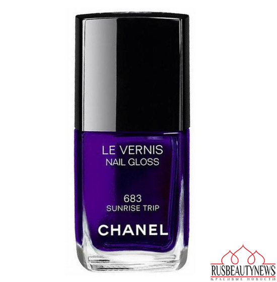 Chanel L.A. Sunrise Spring 2016 Collection nail