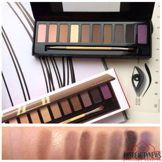 Clarins The Essentials Eye Makeup Palette Holiday 2015 swatches