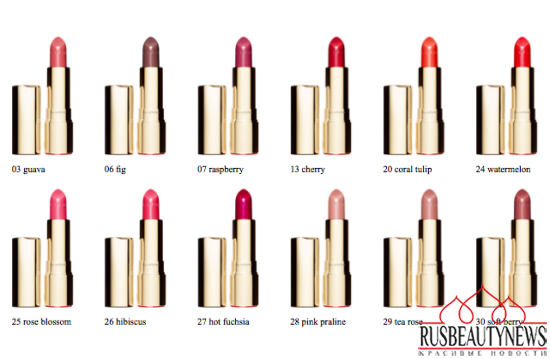 Clarins Joli Rouge Brillant colors