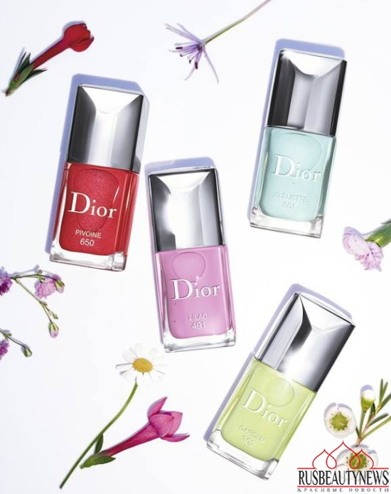 Dior Glowing Gardens Collection Spring 2016 nail