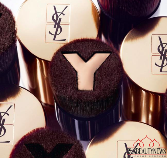 YSL Touche Eclat Foundation Brush look