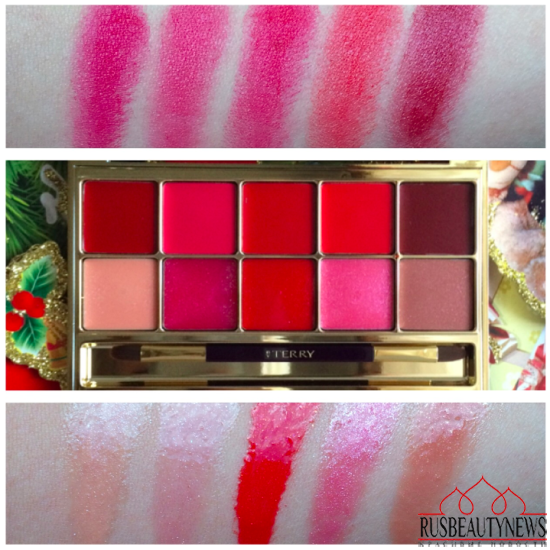 By Terry Gold Jewel Lip Kiss Palette swatches