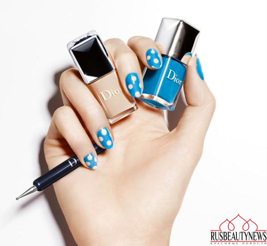 Dior Summer 2016 Milky Dots Collection nail look