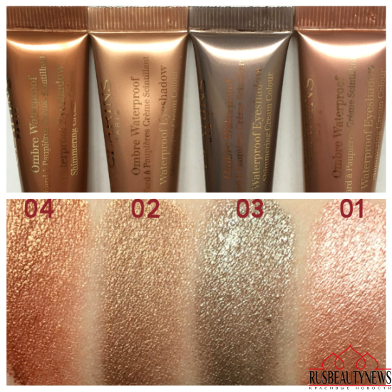 Clarins Hâle D'Été Summer 2016 Collection eyeshadow swatches