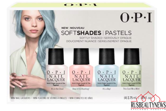 OPI Soft Shades Pastel Spring 2016 Collection set