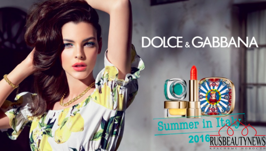 Dolce & Gabbana Summer in Italy Makeup Collection 2016 look1
