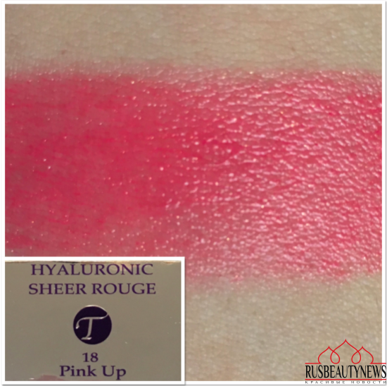 By Terry Hyaluronic Sheer Rouge Hydra-Balm Fill + Plump Lipstick 18 Pink Up swatches