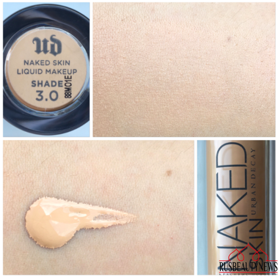 Urban Decay Naked Skin Weightless Ultra Definition Make Up swatches