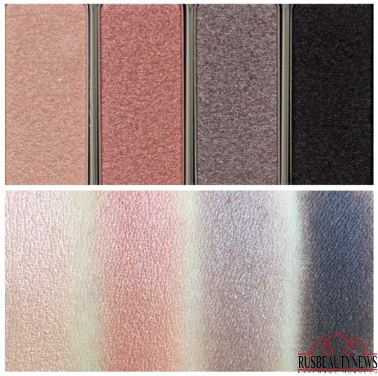 Clarins 4-Colour Eyeshadow Palette 01 Nude swatches