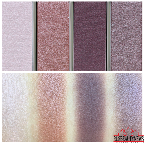 Clarins 4-Colour Eyeshadow Palette 02 Rosewood swatches