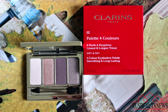 Clarins 4-Colour Eyeshadow Palette 02 rosewood