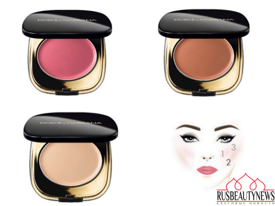 Dolce&Gabbana Blush of Roses Creamy Face Colour Collection makeup
